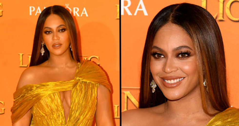 Beyonce Rocked the Highest Leg Slit at the 'Lion King' Premiere