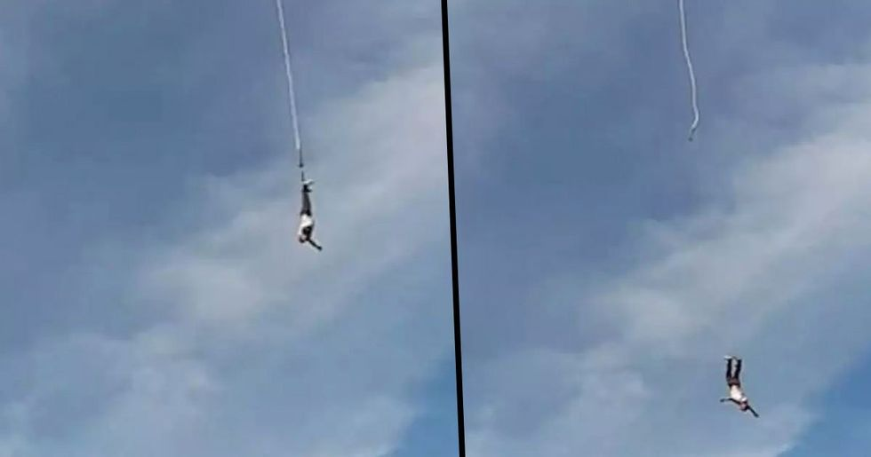 Bungee Jumper Plunges Over 300ft Head First After Harness Snaps in Mid-Air