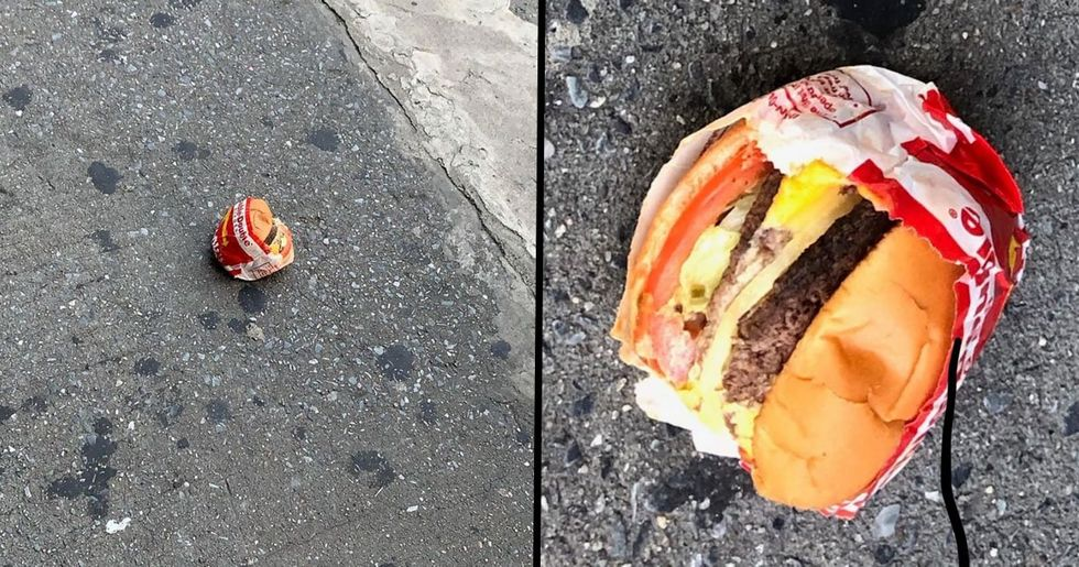 Mysterious 'Untouched' In-N-Out Burger Found Lying on New York Street