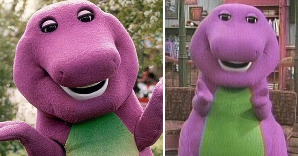 Barney the Dinosaur Has Been Unmasked and the Internet Is Shook