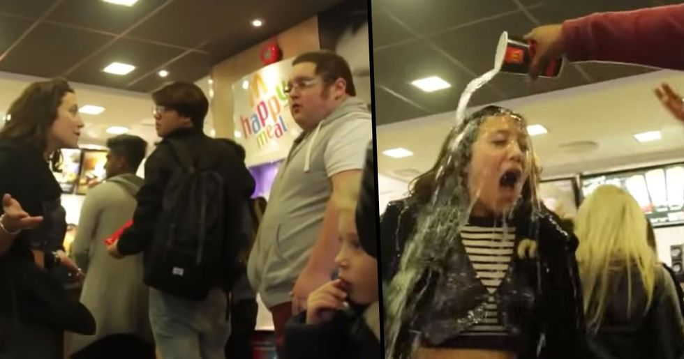 Girls Fat-Shamed Guy at McDonald's before Receiving Instant Karma by Bystander
