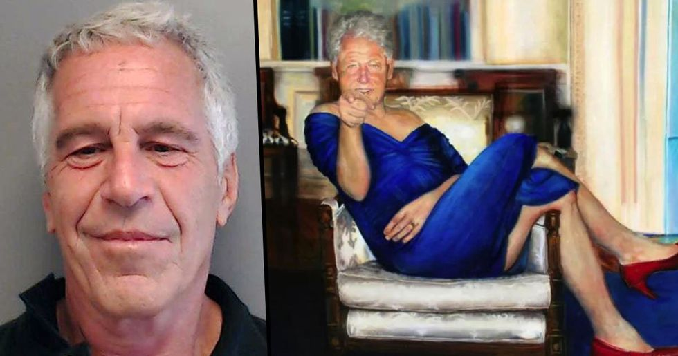 Jeffrey Epstein Had Picture of Bill Clinton in Blue Dress at His 'Pedophile Mansion'