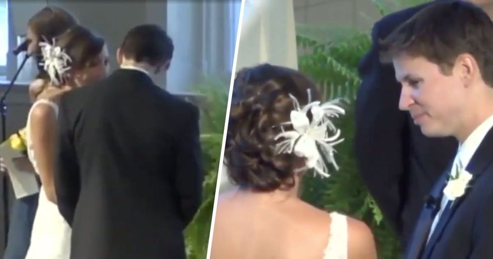 Bride Whispers 'I Took a Really Big Dump' to Groom Not Realizing He's Wearing a Mic