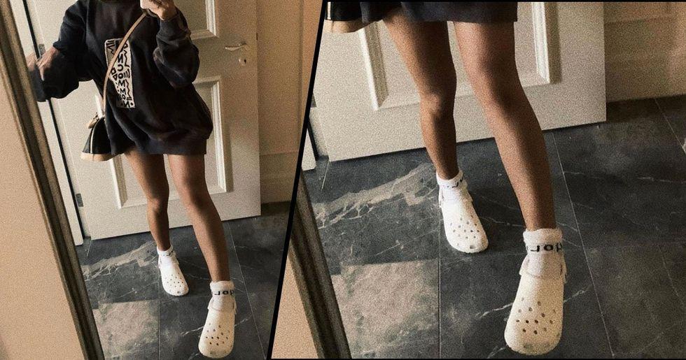Ariana Grande Posts Photo Wearing Crocs and Socks and People Love It