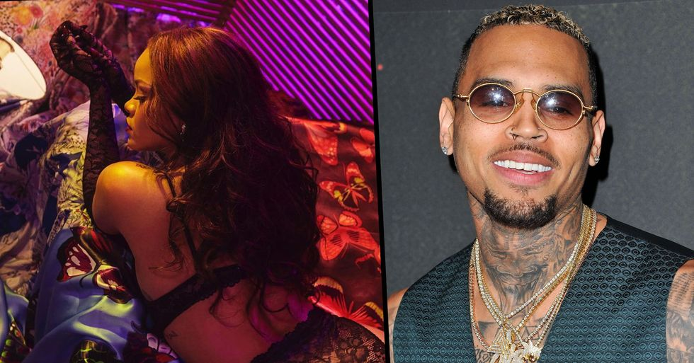 Chris Brown's Comment on Rihanna's Instagram Has Made a Lot of People Angry