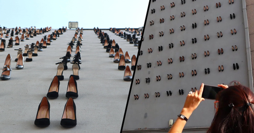 Women's Shoes Hung on Wall in Turkey to Commemorate the 440 Women Killed by Their Own Husbands