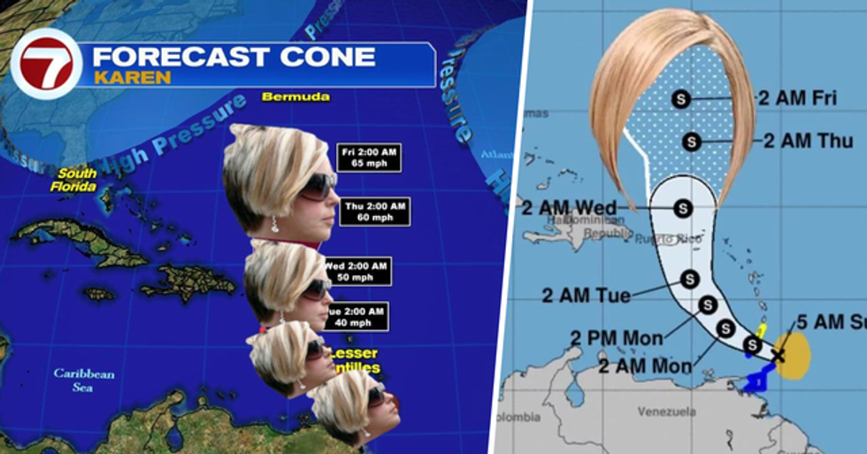 Tropical Storm Named Karen Sparks Hilarious Jokes About Calling the Manager