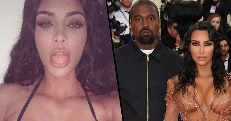 Kim Kardashian Shares Intimate Pic of Her and Kanye Before Quickly Deleting It