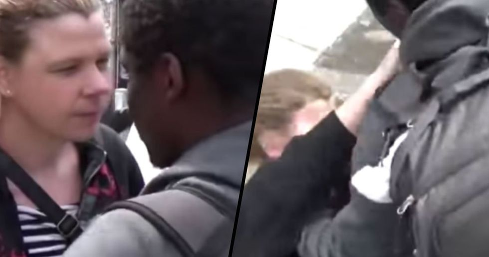 Transgender Woman Punches Man in the Face at Protest, He Punches Back