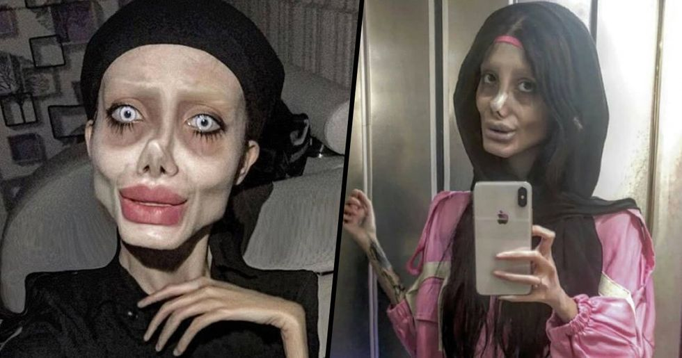 Angelina Jolie 'Lookalike' Brought out on TV Without Make-Up