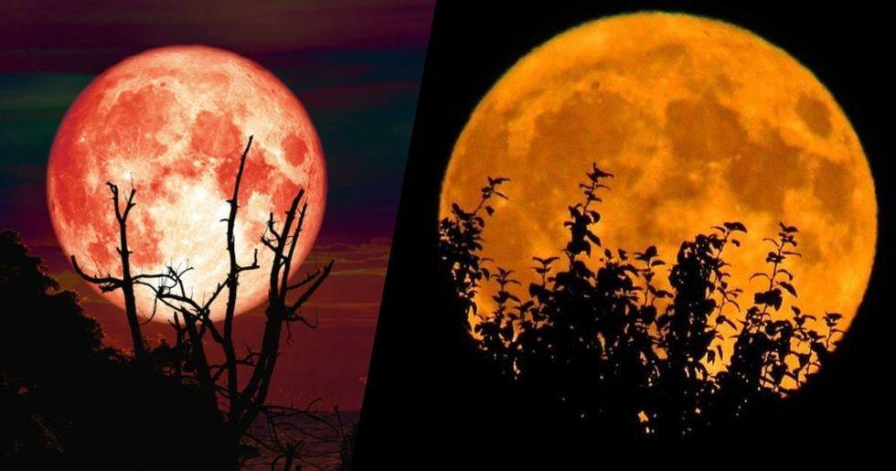 October 13th Will Have a Rare Bright Orange 'Full Hunter's Moon'