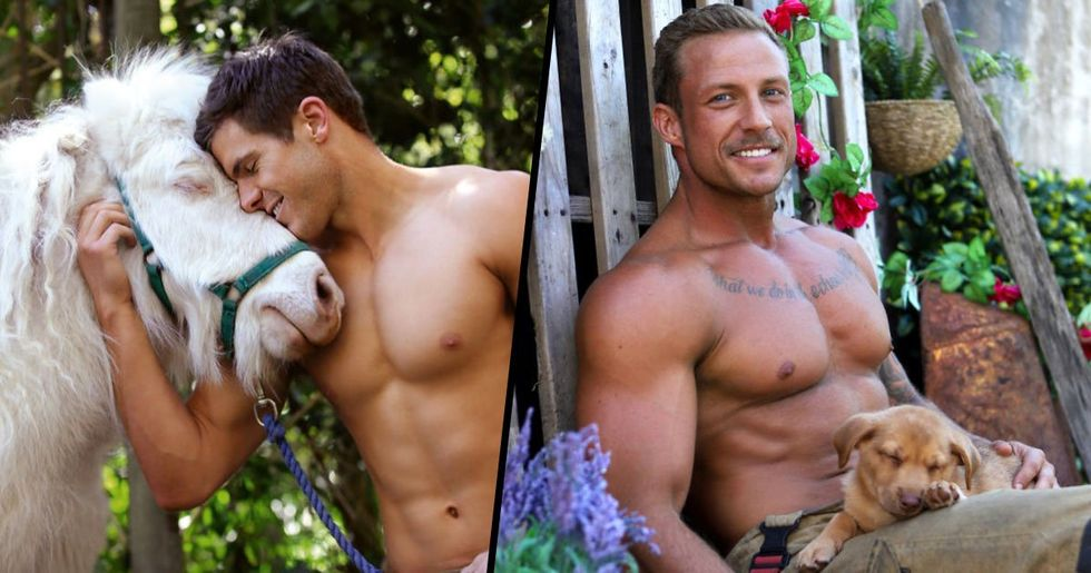 Australian Firefighters Pose With Animals for 2020 Charity Calendar and It's One Big Thirst Trap