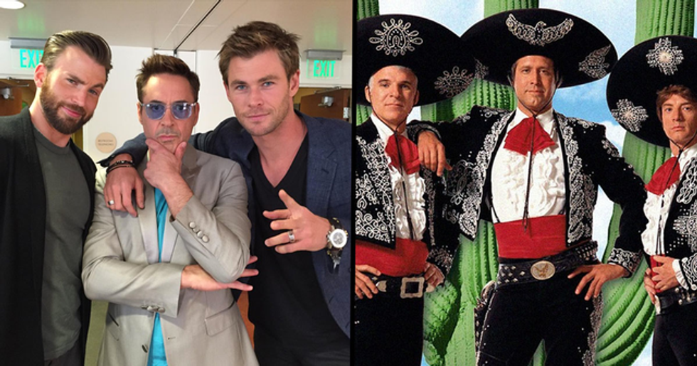 Chris Hemsworth Wants to Remake 'Three Amigos' With Chris Evans and Robert Downey Jr.