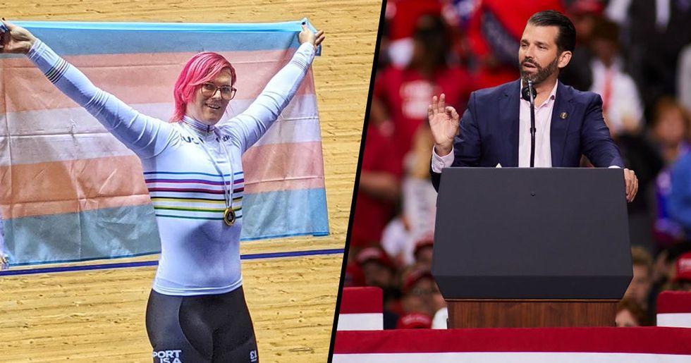 Transgender Cyclist Defends Her World Title Win After Donald Trump Jr. Calls It Trash