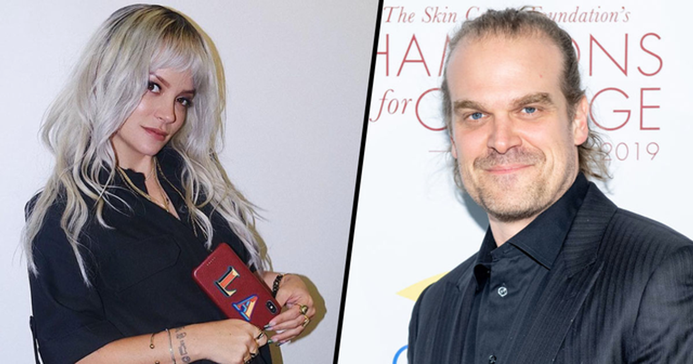 David Harbour Confirms Relationship with Lily Allen by Posting First Instagram Pic Together