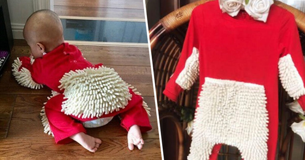 You Can Now Buy a Babygro With Built-In Mop so Your Little One Can Do Chores
