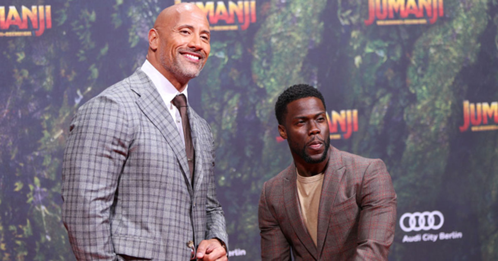Kevin Hart Brilliantly Trolls Dwayne Johnson with Halloween Costume