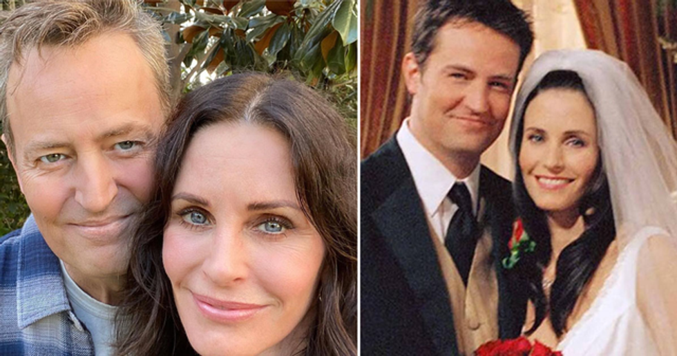 Courteney Cox Shares Rare Selfie With Matthew Perry During Reunion