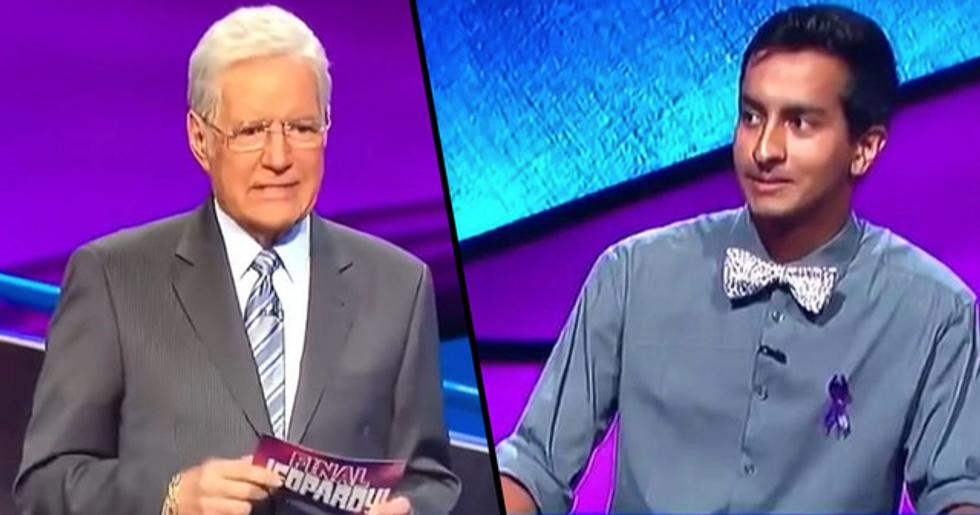 Alex Trebek Chokes up When Contestant Answers 'We Love You Alex' After Surprise 'Final Jeopardy' Question