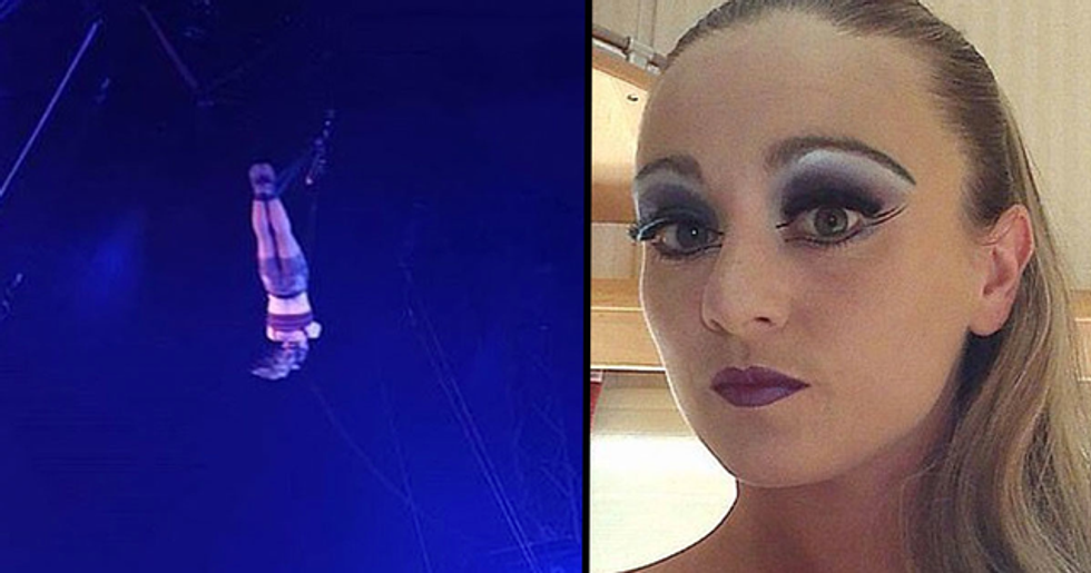 Female Acrobat Crashes 30ft to the Floor at London's Winter Wonderland