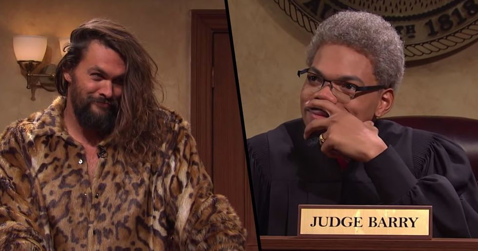 Jason Momoa's Surprise 'SNL' Appearance Left Everyone in Stitches