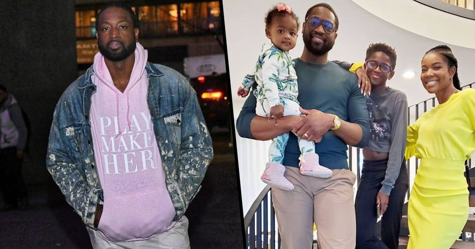 Dwyane Wade Defends His Son for Wearing a Crop Top and Fake Nails