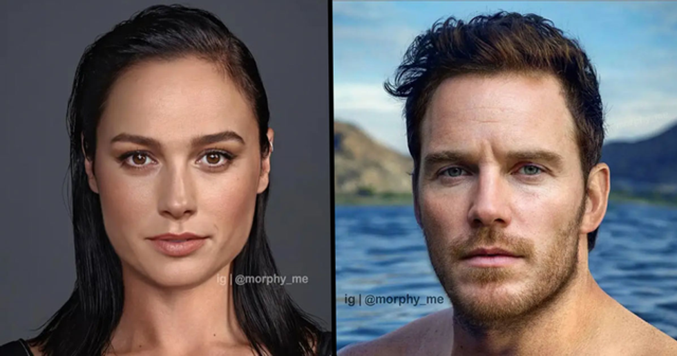 Artist Morphs Celebrities' Faces Together to Create Perfect Hybrids