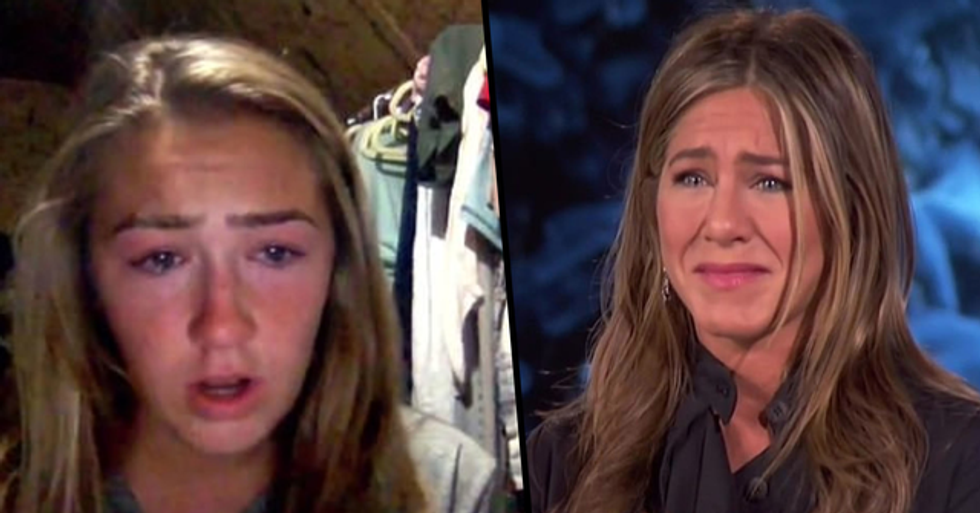 Jennifer Aniston Breaks Down Watching Video of a Daughter Pleading to Help Her Unemployed Father