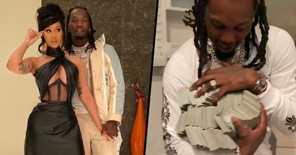Cardi B Gives Husband Offset $500k Cash for His Birthday