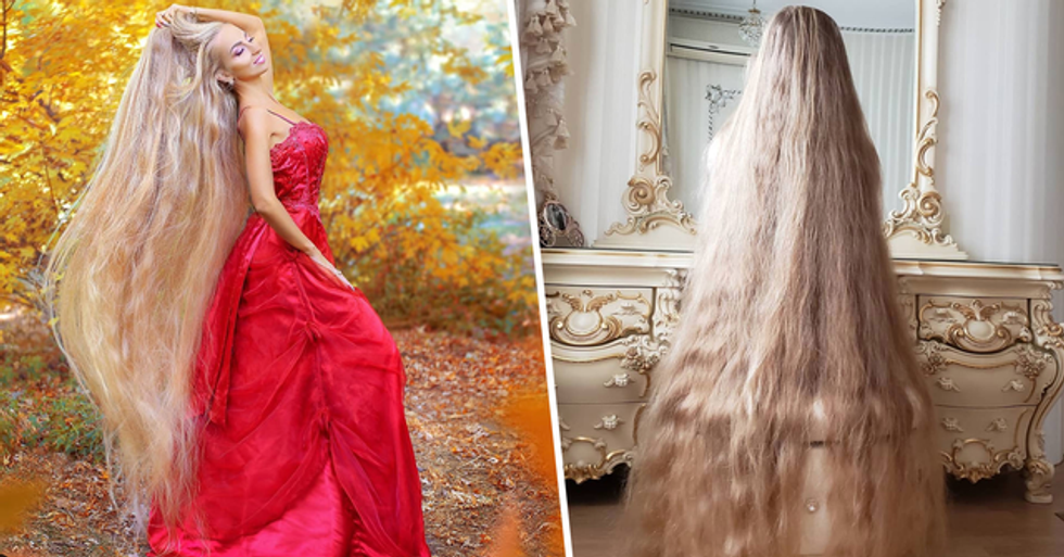 Real-Life Rapunzel Hasn't Cut Her Hair Since She Was Five-Years-Old