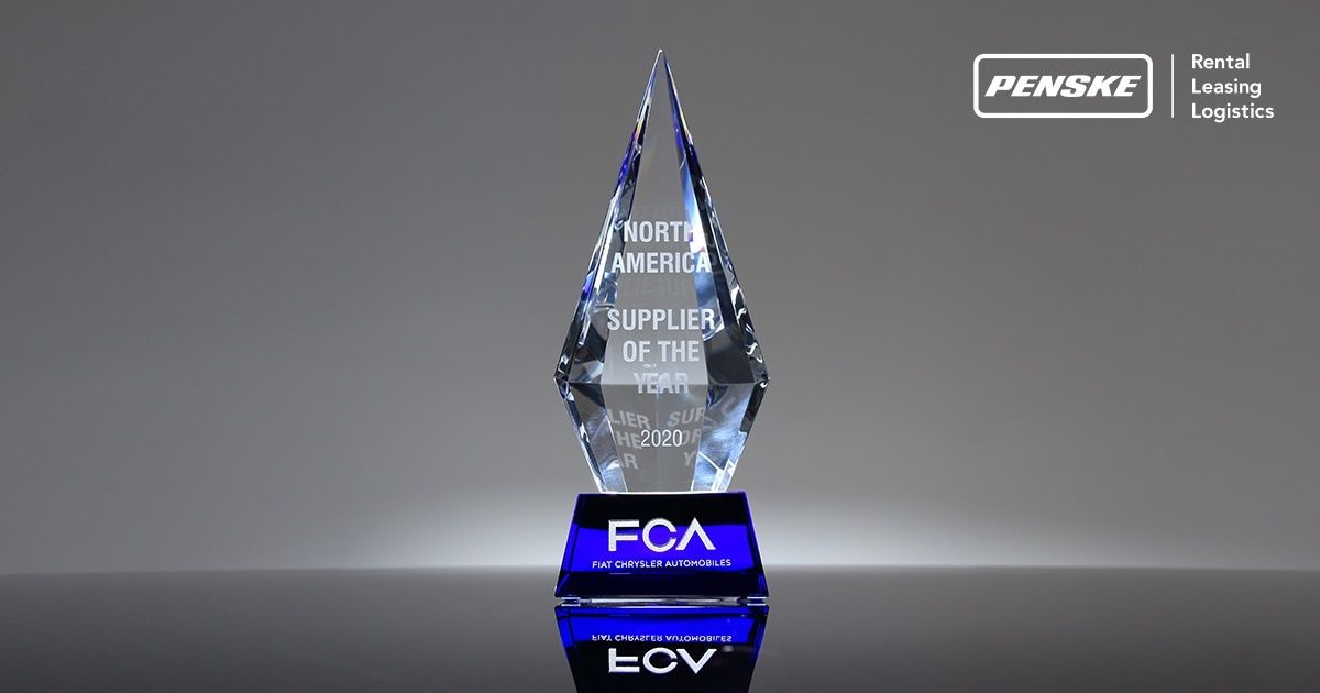 FCA Award North America Supplier of the Year 2020