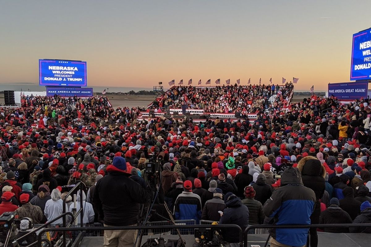 Trump left thousands of his own supporters stranded in freezing temperatures after rally