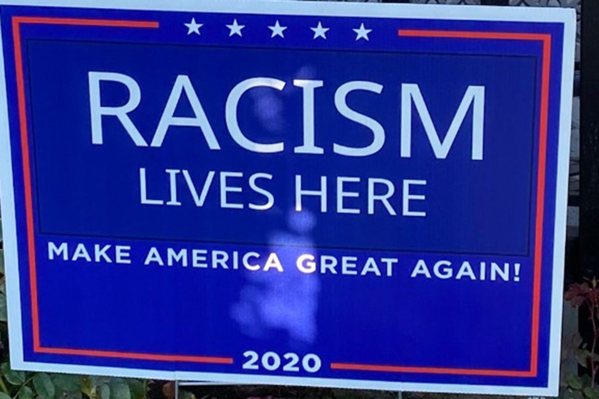 'Racism Lives Here' signs are popping up on lawns near San Diego, California