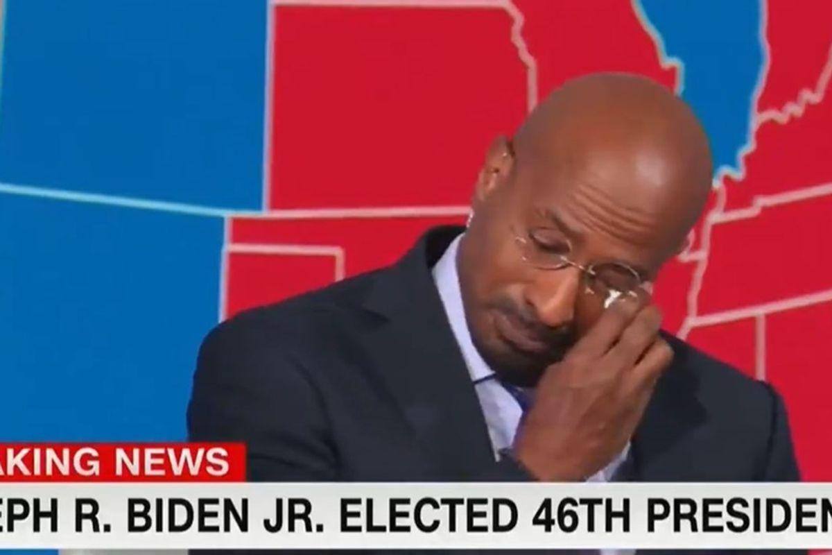 Moments after Joe Biden won, CNN's Van Jones broke down in tears of joyous relief