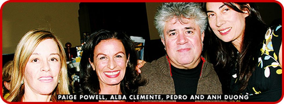 Out with Pedro Almodovar