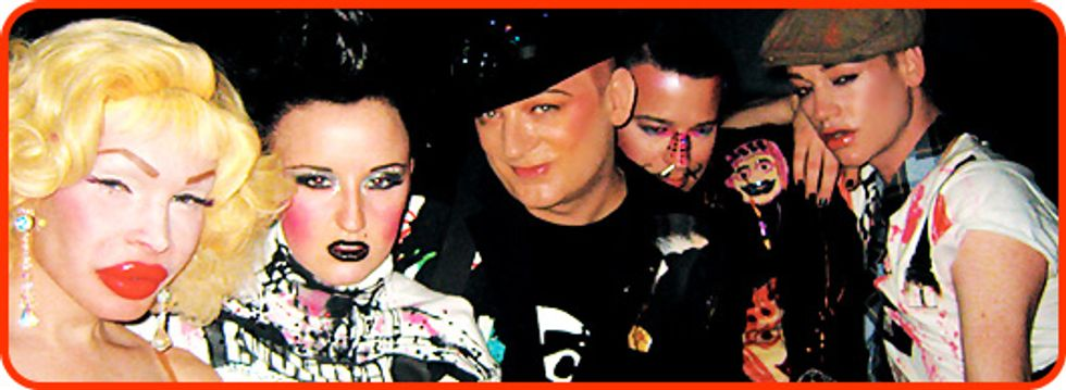 Out with Boy George