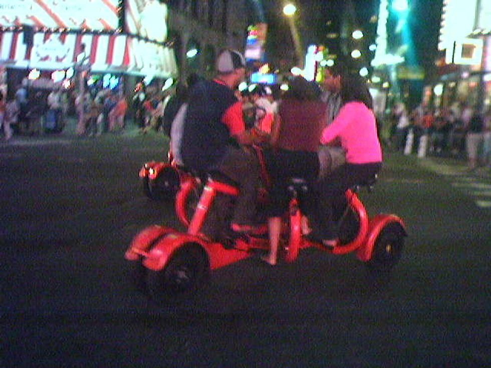 Wheeeeee! Times Square Kicks