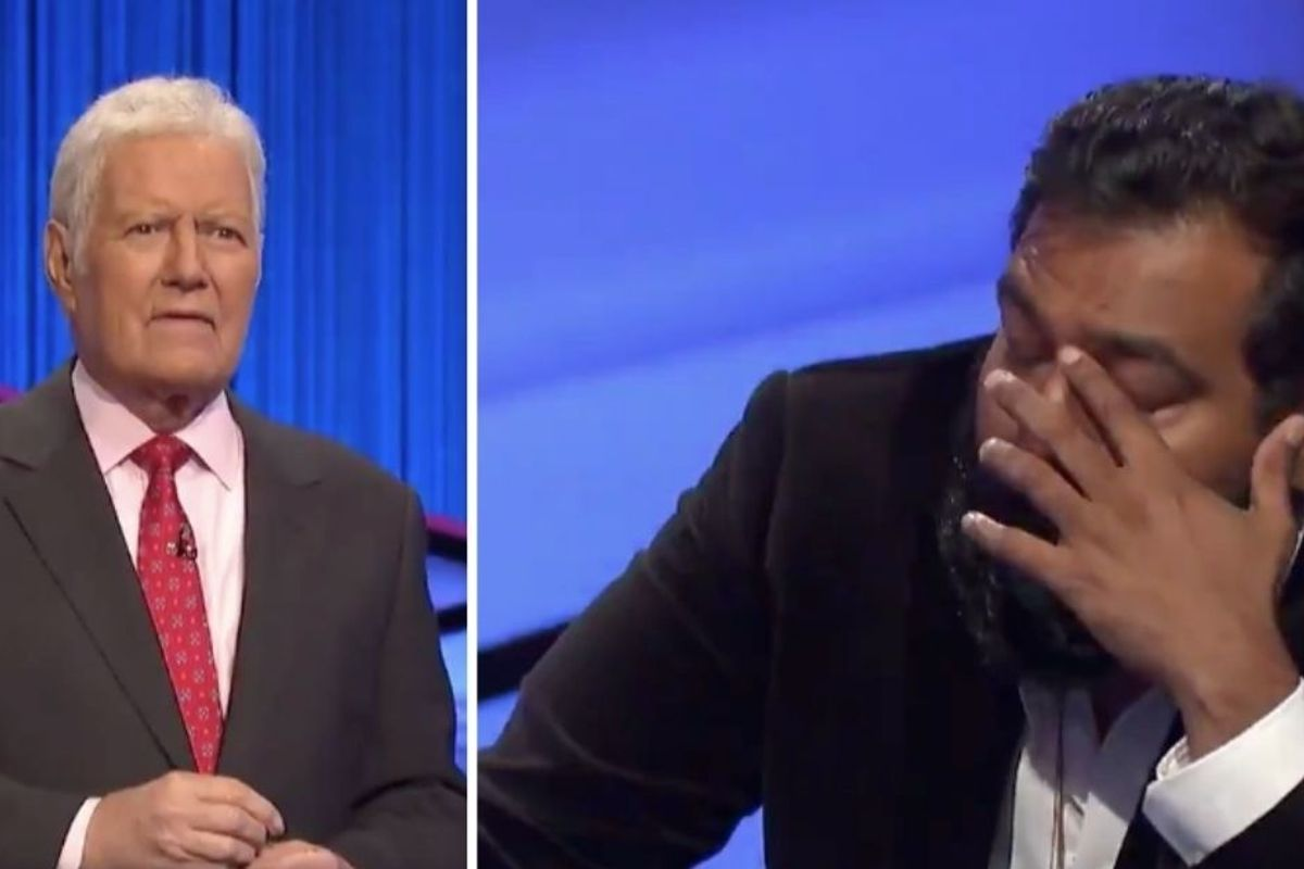 One of the last Jeopardy! winners gave a tearful, personal thanks to Alex Trebek