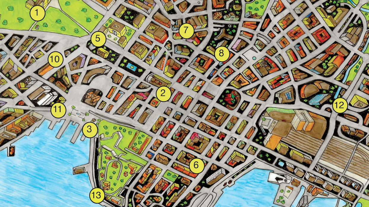 The Critical Tourist Map of Oslo by Markus Moestue