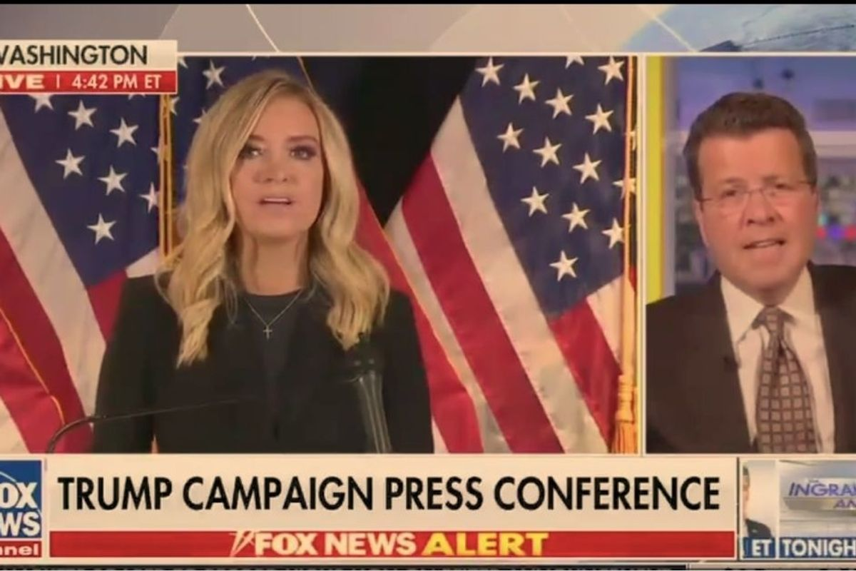 Fox News cut away from the White House press conference, saying 'Whoa...not so fast'