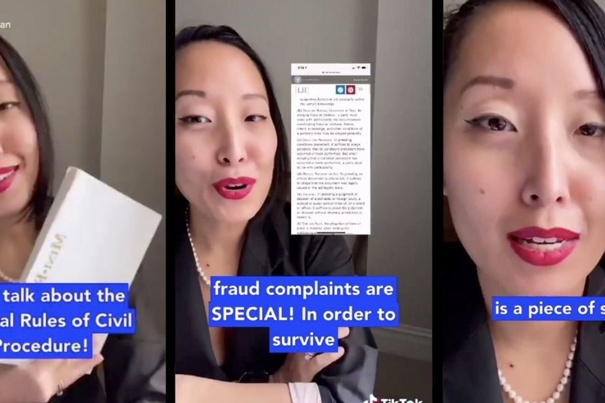A lawyer explains why Trump's legal case falls flat in an entertainingly informative Tik Tok