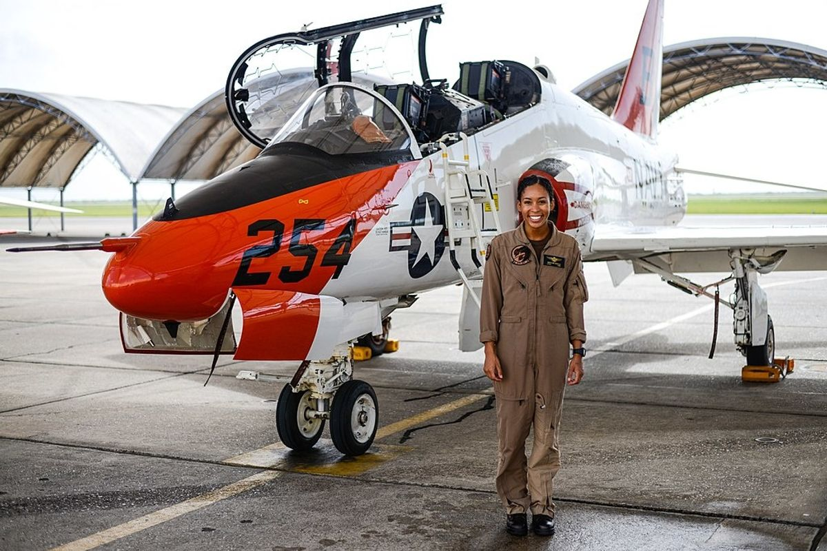 Madeline Swegle breaks 110-year record and becomes the Navy's first Black female fighter pilot