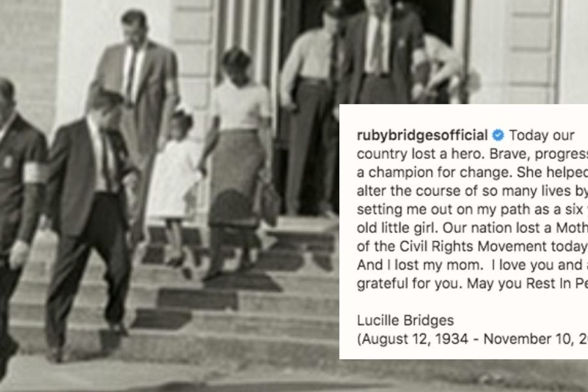 Ruby Bridges' mother passes at age 86. As a mom, I am in awe of her strength and courage.