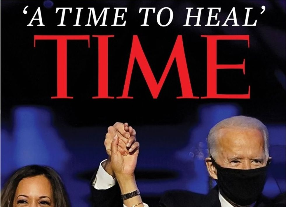 Time magazine cover declares that Biden's apparent victory represents 'A time to heal'
