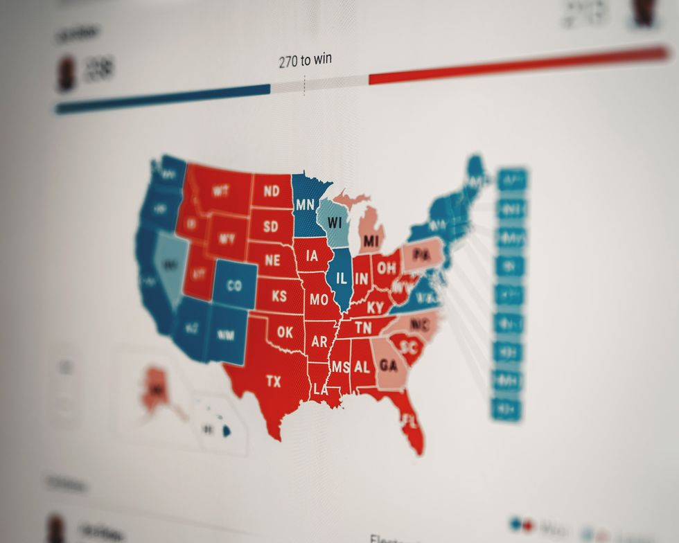 red and blue election map