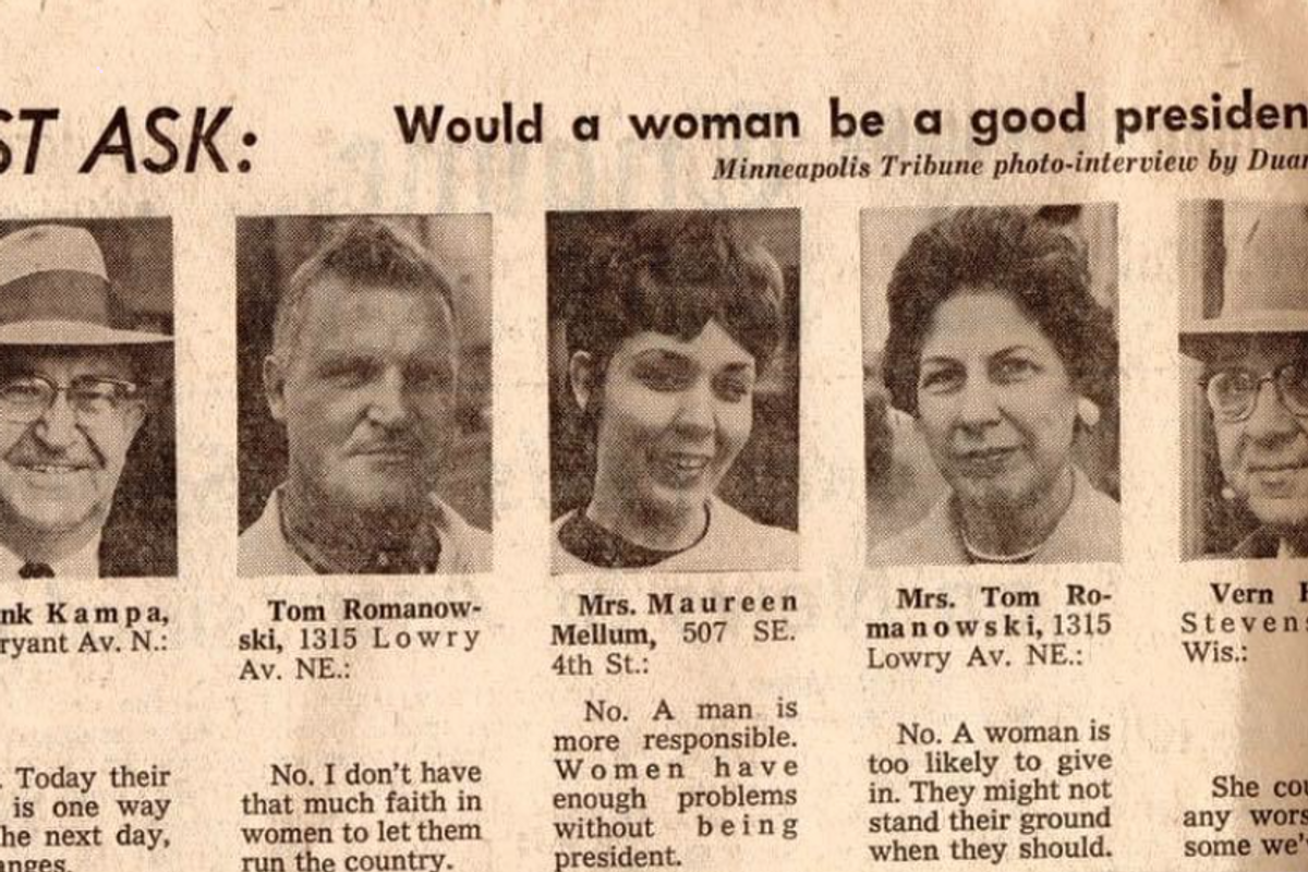 A man's 1963 answer to whether or not a woman would make a good president rings true today