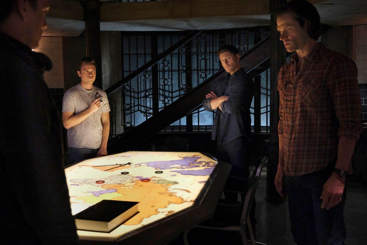 \u200bJake Abel as Michael, Alexander Calvert as Jack, Jensen Ackles as Dean, and Jared Padalecki as Sam