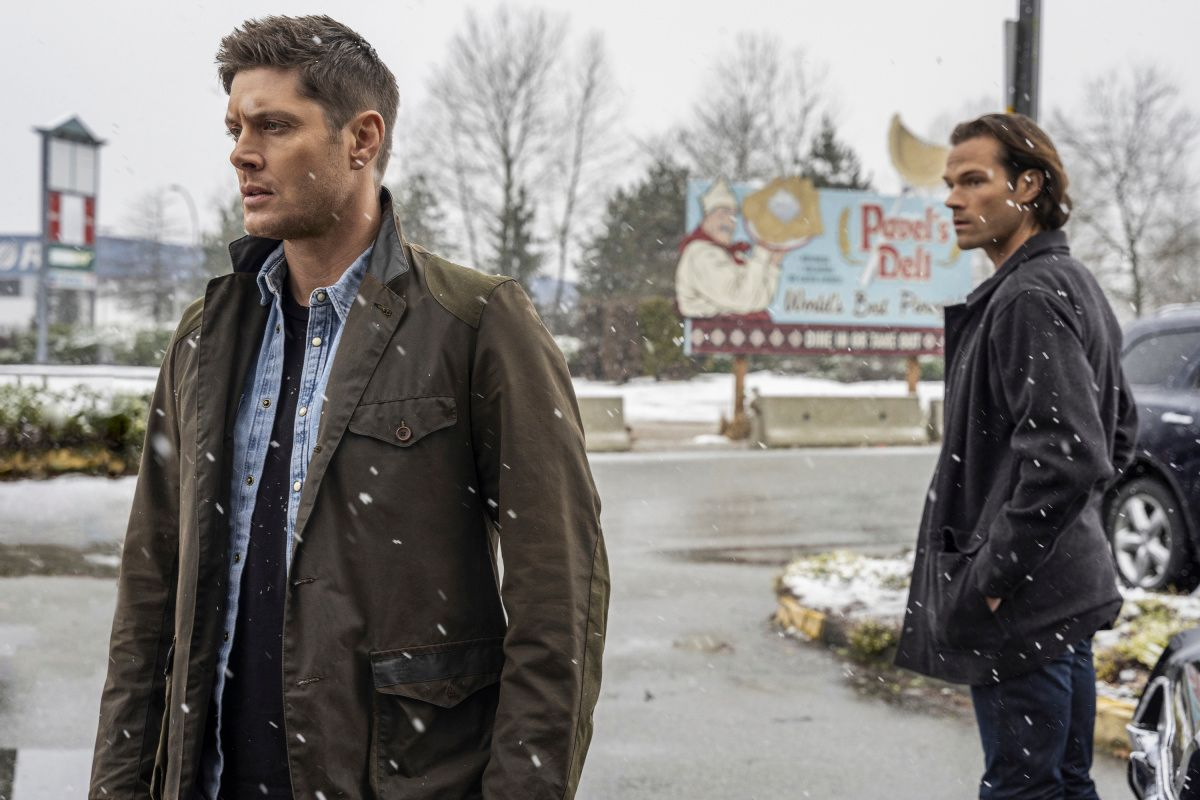 Dean and Sam on a snowy day