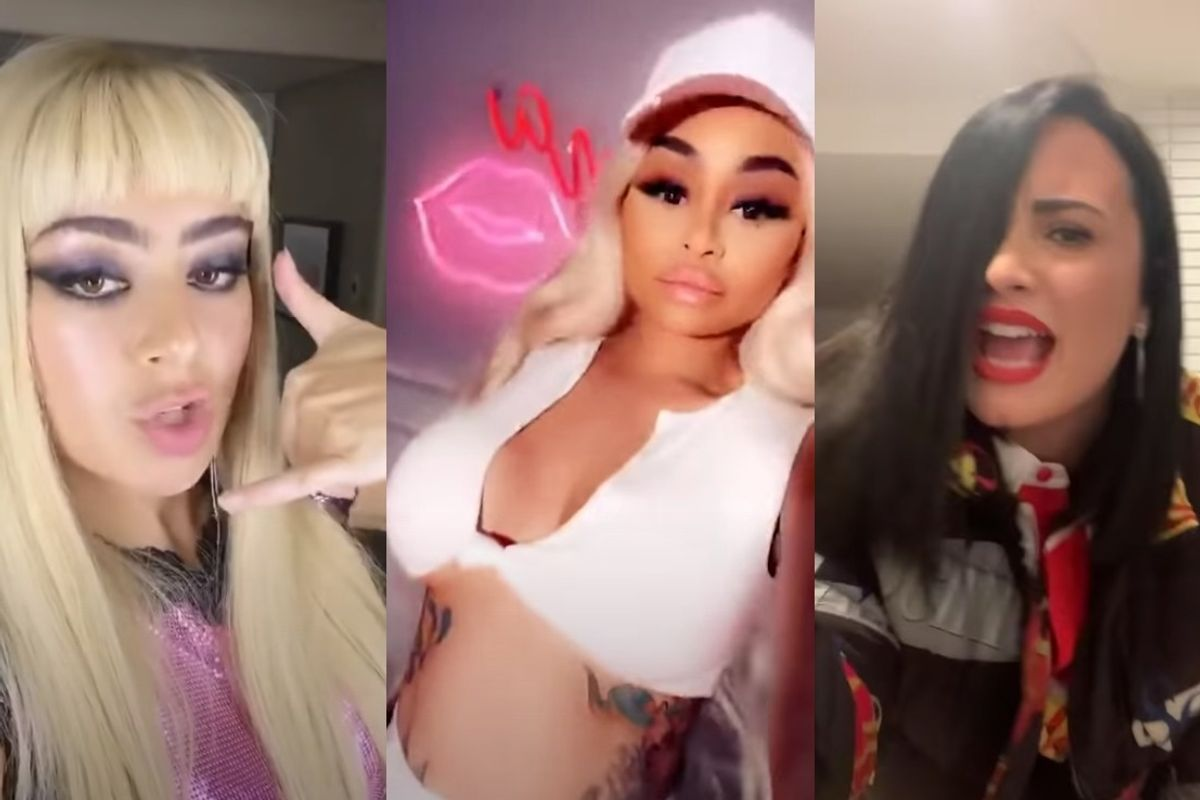 Charli XCX, Blac Chyna and Demi Lovato Dance to Bhad Bhabie
