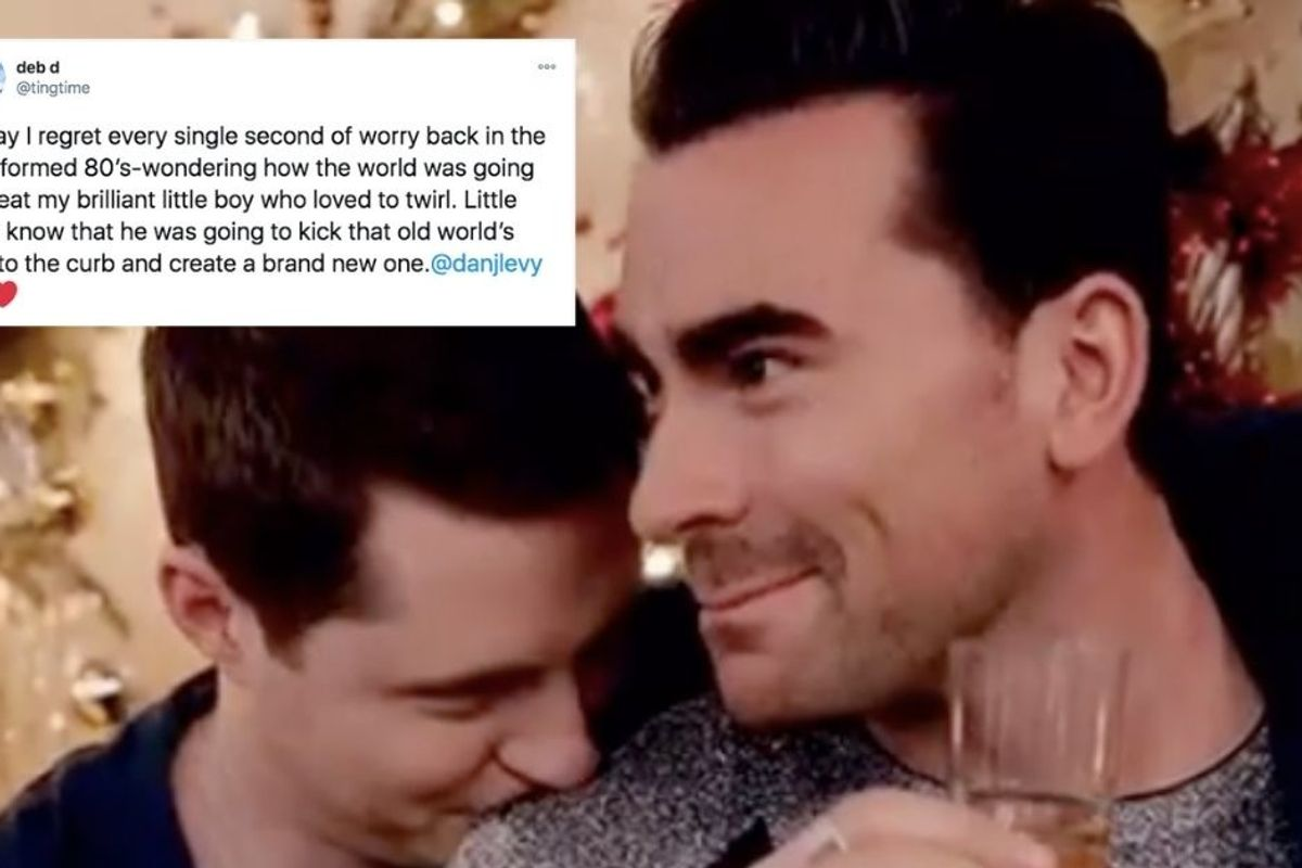 Dan Levy's mom shared a lovely note on worrying about her 'little boy who loved to twirl'